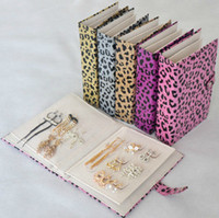 book box - Jewelry Packaging Leather jewelry box woman Personality leopard print storage book birthday gift
