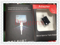 Wholesale Micro USB Pin to Pin HDTV MHL HDMI Cable Adapter Black color For Samsung Galaxy S3 SIII i9300