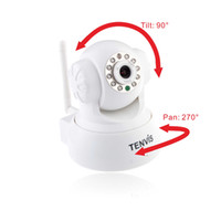 Wholesale TENVIS Wireless IP Camera webcam Web CCTV Camera Wifi Network IR NightVision P T With Color BOX MYY4518