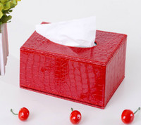 Wholesale Home supplies classic Europe type style Creative leather tissue box napkin box