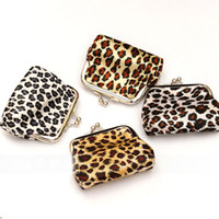 animal mix shorts - 2015 new fashion women girl leopard money wallet burse coin purse mix color