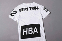 Wholesale hba been thrill T shirts TEE clot HBA Tee Black White NEW Arrive Top quality