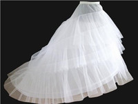 Wholesale Newest Gorgeous exquisite white Wedding Gown Train Free Size Petticoat Crinoline Underskirt Layers Bridal Accessories hot sale