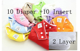 Wholesale HOT Adjustable Reusable Baby Washable Cloth Diaper Nappies Inserts layersA01