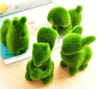 Wholesale 6pcs Models Green Grass Land Attificial Animal Artificial Plant Home Decoraton FZ08