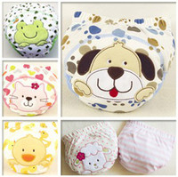 Wholesale Brand Newborn Baby Study Diapers Pure cotton layer cartoon toddler boys girls Briefs QS125