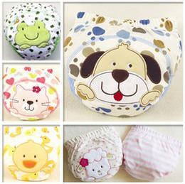 Wholesale Brand Newborn Baby Study Diapers Pure cotton layer cartoon toddler boys girls Briefs QS125