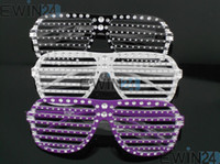 Wholesale Diamond studded Shutter Blinds Sunglasses Party Shades Glasses Toy Eyewear For Kid Boy Girl