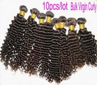 Wholesale virgin Peruvian hair curly bulk cheaper price12 quot quot Grade AAAAA Top China Supp