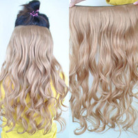 Wholesale New Fashion Women s Accessories Girl Long Wavy Curly Synthetic Hairpiece Clips Onepiece In Hair Ex