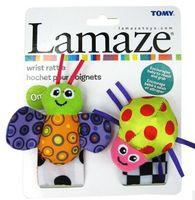 Wholesale 2013 Latest Lamaze Baby Wrist Dotted Rattle Toys Bees Ladybugs Cartoon Plush Toys Infant Watch Band B0716