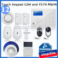Wireless Yes GSM 850/900/1800/1900MHz +PSTN Advanced Touch Keypad LCD GSM Quad Band+ PSTN Wireless Home Office Security Burglar Alarm System Fire Alarm w Auto Dial, iHome328GPB12