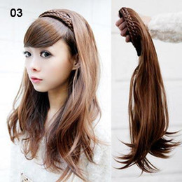 Wholesale 19inch One Piece New Long Synthetic Straight Half head Hair Extensions Styling Stylish Queens Hairpi
