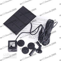 Wholesale Solar Brushless Water Pump Wholesale - 20pcs lot # Solar Brushless Pump For Water Cycle Pond Fountain Rockery Fountain Free MYY1711