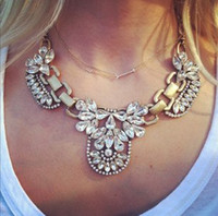 Wholesale fashion Luxurious choker Necklace Statement Necklace Jewelry With Gemstone For women jewelry ZY