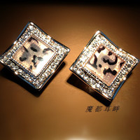 Wholesale charming lozenge Crystal Earrings cm