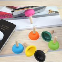 Creative Rubber toilet sucker stand Plunger Holder for iPhon...