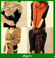 Wholesale 80pcs NEW STYLE Fashion Knitted Soft Solid Very Warm Imitated Cashmere Women Winter Scarf Colors