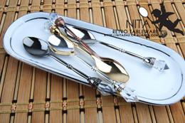 Wholesale antique style spoon diamond shape mini spoon high taste spoon zinc alloy barware small flatware