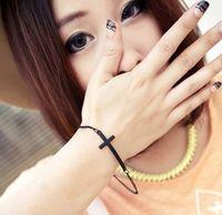 Women's gothic punk - 30pcs Vintage Gothic Punk Rock Cross Chain Wristband Harness Bangle Cross Bracelet