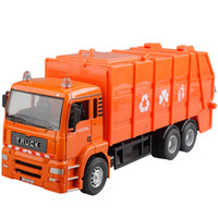 Wholesale Toy alloy jackknifed model garbage truck clean car sanitation trucks toy car model car engineering car