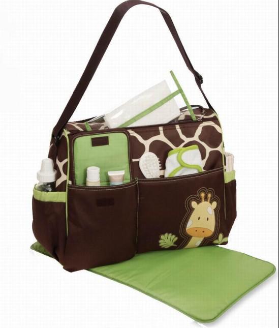 2017 giraffe zebra print mommy bag baby boom nursing bag. Black Bedroom Furniture Sets. Home Design Ideas