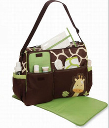 Wholesale Giraffe Zebra Print Mommy Bag Baby Boom Nursing Bag Nappy Diaper Bag Urinal Pad Travel Shoulder Bag New Moms New Daddy Multi functional Bag