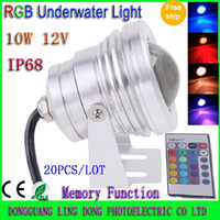 Wholesale LED Underwater lights W AC DC12V Warm Cool White RGB LED Underwater lamp Waterproof IP68 flood light