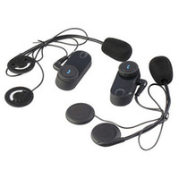 Wholesale 2PCS m BT interphone bluetooth motorcycle Motorbike helmet intercom Headset