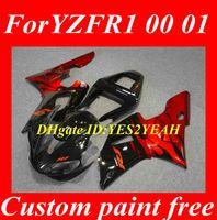 Wholesale 2013 Motorcycle Fairing kit for YAMAHA YZFR1 YZF R1 YZF R1 YZR1000 OO orange gloss black fairings bodykit gifts YS14