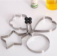 Wholesale 4 stainless steel kitchen utensils omelettes mould heart omelette pan mould omelette device