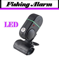 Wholesale 2013 New Arrival Electronic Bite Fish Alarm Bell Fishing Rod Pole W LED light Fishing Tools