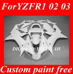 Fairing Body kit for 2002 2003 YAMAHA YZFR1 YZF R1 YZF-R1 YZF1000 R1 02 03 white Fairings Bodywork+gifts YK17