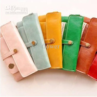 Envío libre / nuevo estilo dulce del cordón de la vendimia de la PU billetera de cuero con una bolsa de monedas / bolsos lady