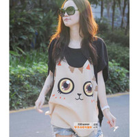 Wholesale Maternity clothing fashion cute cat loose short sleeved T shirt pregnant women jacket T shirts cartoon