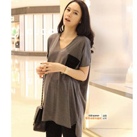 Wholesale summer t shirt pregnant women maternity clothing plus size t shirts fashion Maternity wear loose top