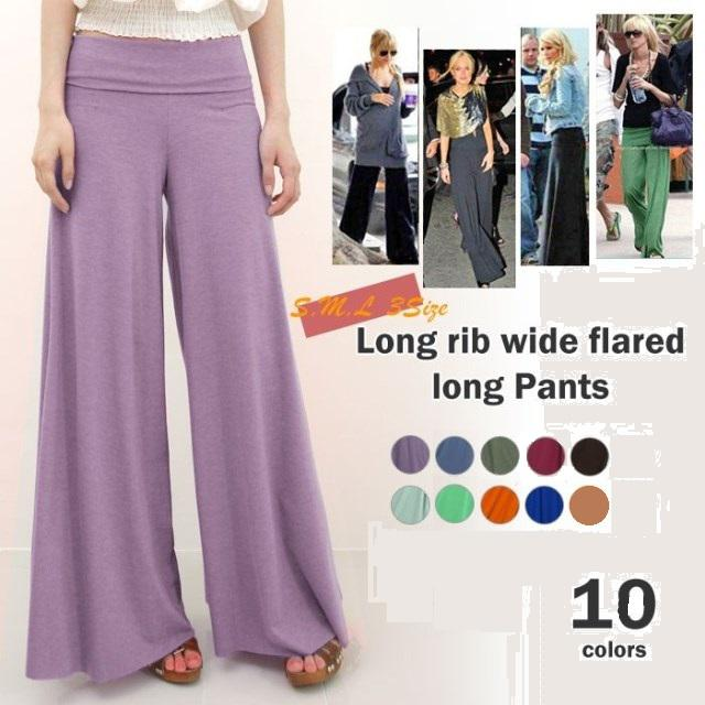 2017 2013 New Pants Candy Colored Wide Leg Trousers Rainbow ...