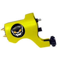 Other Material Machine skull tattoo gun - Skull Rotary Tattoo Machine Gun Yellow For Tattoo Needle Ink Cups Tips Kits Colors can choose
