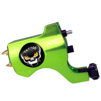 1 Piece skull tattoo gun - Pro Skull Rotary Tattoo Machine Gun Green Color For Tattoo Needle Ink Cups Tips Kits Colors can choose