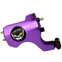 skull tattoo gun - Top Skull Purple Rotary Tattoo Machine Gun For Tattoo Needle Ink Cups Tips Kits colors can choose