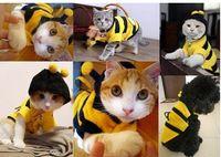Wholesale Cute Dog Cat Pet Bumble Bee Dress Up Costume Fashion Apparel Dog Hoodies Coat Clothes