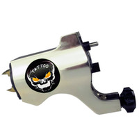 Wholesale Professional Skull Rotary Tattoo Machine Gun Silver Color For Tattoo Needle Ink Cups Tips Kits colors can choose