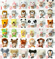 winter animal hat - 50pcs Factory Sale Inventory Christmas discounts hat animal hats caps winter hat