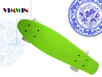 22inch Green Decks White Wheels New Fresh PP Material New Arrival Soft Green Penny Board Penny Board Skateboard Penny Skateboard Penny Nickel Penny Skate Penny Skateboard