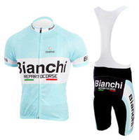 Wholesale 2011 BIANCHI Team Bike Clothing Short Sleeve and Bib Shorts Suit High Quality Cycling Jerseys Outdoor Cycling wear Summer Cycling Clothing