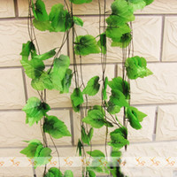 Fabric artificial grape vines - 60m Cheap Decorative Grape Rattan Artificial Flower Vine Shade Plants Wisteria Vine Cane Garden Decoration Party Festive Supplies FZ1