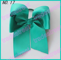 Cotton cheer bow holder - NEWEST fashion Cheer leading Hair Bow mix color girl hair bow holders