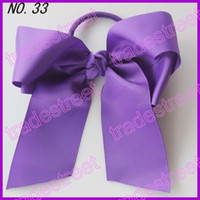 Wholesale NEWEST fashion Cheer leading Hair Bow mix color girl hair bow holders