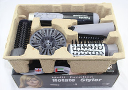 Wholesale in1 Combo Rotate Styler Tools Hair Brush Only V European Plug Stock