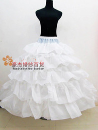 Wholesale Stunning Layers Ruffled Ball Gown Wedding Accessory Underskirts Plus Sizes Bridal Petticoats Evening Prom Occasion Crinolines